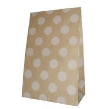 Dotted Party bitty bags Set of 12/ Πουά χαρτινα σακουλακια Σετ των 12
